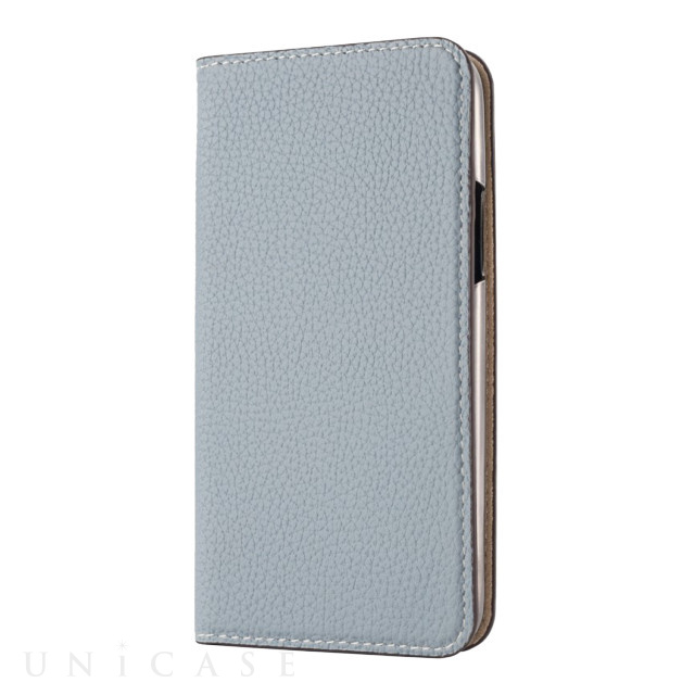 Lorna Passoni(ロルナパッソーニ)【iPhone11 Pro ケース】German Shrunken Calf Folio Case (Light Blue×Milkshake White)