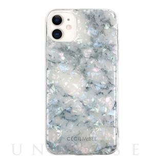 CECIL McBEE(セシルマクビー)【iPhone11/XR ケース】CECIL McBEE ソフトシェルケース 大理石 (WHITE)
