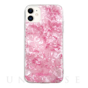 【iPhone11/XR ケース】CECIL McBEE ソフトシェルケース 大理石 (PINK)