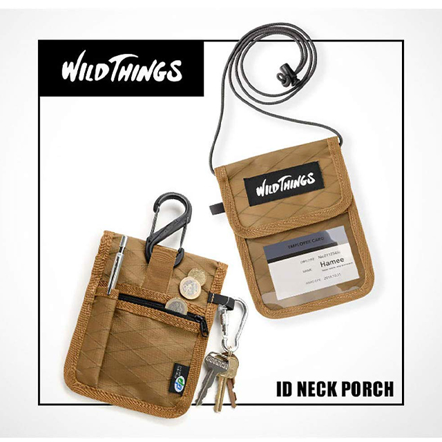 WILD THINGS X-PAC IDネックポーチ (カモ)