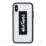 【iPhoneXS/X ケース】WILD THINGS Hybrid Case (ロゴ/クリア)