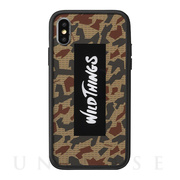 【iPhoneXS/X ケース】WILD THINGS Hybrid Case (ロゴ/カモ)