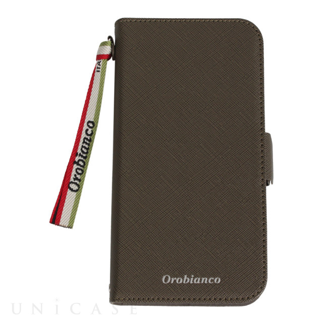 "【iPhone11 ケース】""サフィアーノ調"" PU Leather Book Type Case (グリーン)"