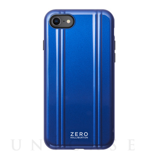 【iPhoneSE(第2世代)/8/7 ケース】ZERO HALLIBURTON Hybrid Shockproof Case for iPhoneSE(第2世代) (Blue)
