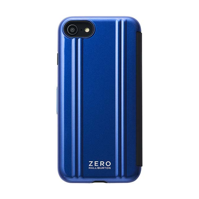 【iPhoneSE(第2世代)/8/7 ケース】ZERO HALLIBURTON Hybrid Shockproof Flip Case for iPhoneSE(第2世代) (Blue)サブ画像