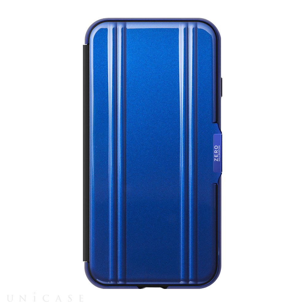 【iPhoneSE(第2世代)/8/7 ケース】ZERO HALLIBURTON Hybrid Shockproof Flip Case for iPhoneSE(第2世代) (Blue)