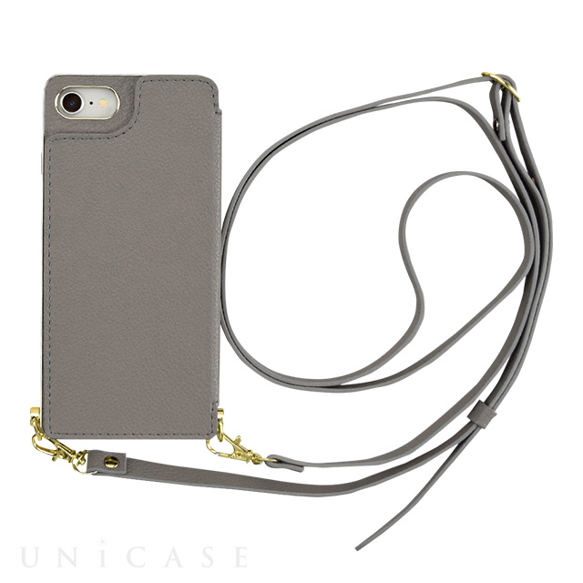 【iPhoneSE(第2世代)/8/7 ケース】Cross Body Case for iPhoneSE(第2世代) (gray)