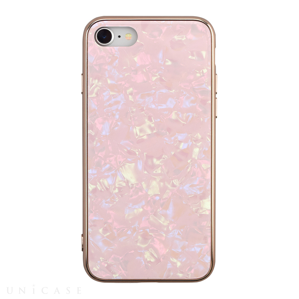 【iPhoneSE(第2世代)/8/7 ケース】Glass Shell Case for iPhoneSE(第2世代) (pink)