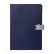【iPad(10.2inch)(第7世代)/ Air(10.5inch)(第3世代)/Pro(10.5inch) ケース】手帳型ケース Cocotte (Navy)