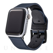 【AppleWatch SE/Series6/5/4/3/2/1(44/42mm) バンド】Italian Genuine Leather Watchband (Navy)