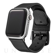 【AppleWatch Series5/4/3(40/38mm) バンド】Italian Genuine Leather Watchband (Black)