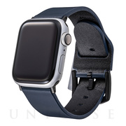 【AppleWatch Series5/4/3(40/38mm) バンド】Italian Genuine Leather Watchband (Navy)