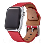 【AppleWatch Series5/4/3(40/38mm) バンド】Italian Genuine Leather Watchband (Red)