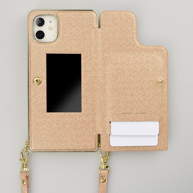 【iPhone11/XR ケース】Cross Body Case Glitter Series for iPhone11 (coral copper)サブ画像