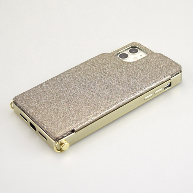 【iPhone11/XR ケース】Cross Body Case Glitter Series for iPhone11 (charcoal silver)サブ画像