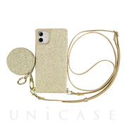 【iPhone11/XR ケース】Cross Body Case Glitter Series for iPhone11 (prism gold)