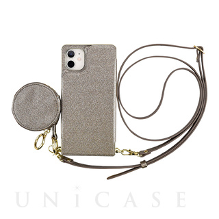 【iPhone11/XR ケース】Cross Body Case Glitter Series for iPhone11 (charcoal silver)
