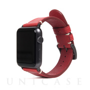 【AppleWatch Series5/4/3/2/1(44/42mm) バンド】Italian Buttero Leather (レッド)