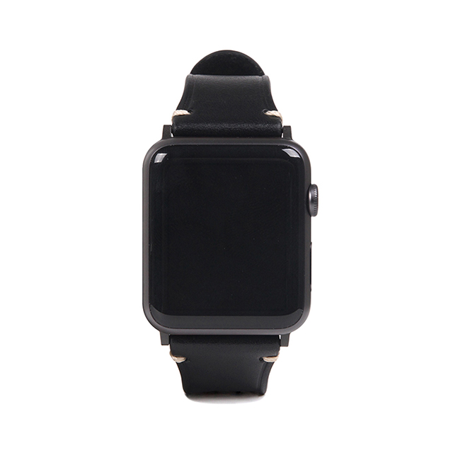 【AppleWatch Series5/4/3/2/1(44/42mm) バンド】Italian Buttero Leather (ブラック)サブ画像