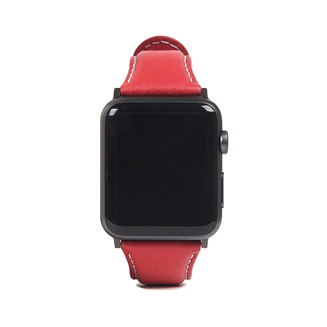 【AppleWatch Series5/4/3/2/1(44/42mm) バンド】Italian Minerva Box Leather (レッド)サブ画像