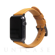 【AppleWatch Series5/4/3/2/1(44/42mm) バンド】Italian Minerva Box Leather (タン)
