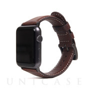 【AppleWatch Series5/4/3/2/1(44/42mm) バンド】Italian Minerva Box Leather (ブラウン)