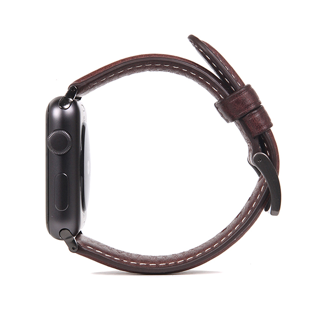 【AppleWatch Series5/4/3/2/1(40/38mm) バンド】Italian Minerva Box Leather (ブラウン)サブ画像