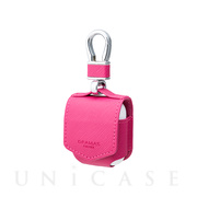"【AirPods ケース】""EURO Passione"" PU Leather Case (Pink)"
