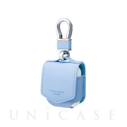 "【AirPods ケース】""EURO Passione"" PU Leather Case (Light Blue)"