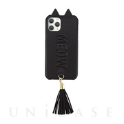 【アウトレット】【iPhone11 Pro ケース】Tassel Tail Cat Case for iPhone11 Pro (black)