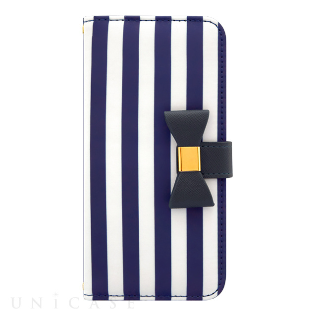 【アウトレット】【iPhone6s/6 ケース】Ribbon Diary Stripe Navy for iPhone6s/6