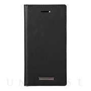 "【iPhoneSE(第2世代)/8/7/6s/6 ケース】""EURO Passione"" PU Leather Book Case (Black)"