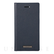 "【iPhoneSE(第2世代)/8/7/6s/6 ケース】""EURO Passione"" PU Leather Book Case (Navy)"