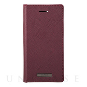 "【iPhoneSE(第2世代)/8/7/6s/6 ケース】""EURO Passione"" PU Leather Book Case (Wine)"