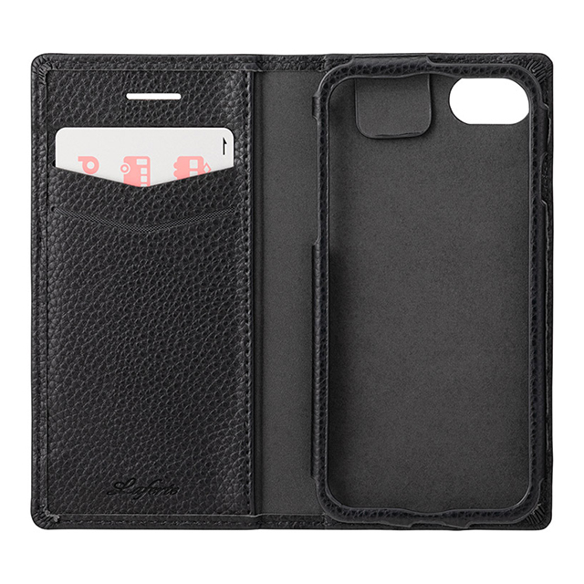 "【iPhoneSE(第2世代)/8/7/6s/6 ケース】""Shrink"" PU Leather Book Case (Black)サブ画像"
