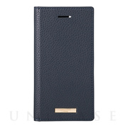 "【iPhoneSE(第2世代)/8/7/6s/6 ケース】""Shrink"" PU Leather Book Case (Navy)"
