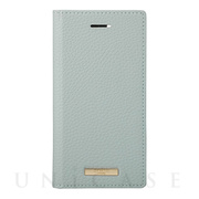 "【iPhoneSE(第2世代)/8/7/6s/6 ケース】""Shrink"" PU Leather Book Case (Light Blue)"