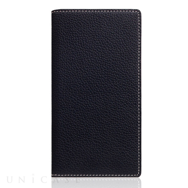 【iPhoneSE(第2世代)/8/7 ケース】Full Grain Leather Case (Black Blue)