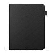 "【iPad Pro(12.9inch)(第4世代) ケース】""EURO Passione"" Book PU Leather Case (Black)"