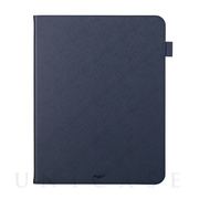 "【iPad Pro(12.9inch)(第4世代) ケース】""EURO Passione"" Book PU Leather Case (Navy)"