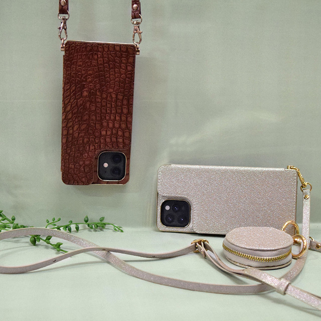 【iPhone12/12 Pro ケース】Cross Body Case for iPhone12/12 Pro (gray)サブ画像