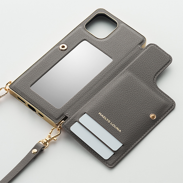 【iPhone12 mini ケース】Cross Body Case for iPhone12 mini (gray)サブ画像