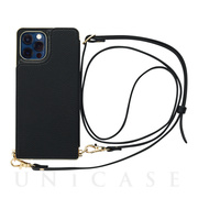 【iPhone12/12 Pro ケース】Cross Body Case for iPhone12/12 Pro (black)
