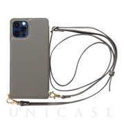 【iPhone12/12 Pro ケース】Cross Body Case for iPhone12/12 Pro (gray)