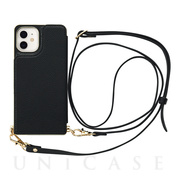 【iPhone12 mini ケース】Cross Body Case for iPhone12 mini (black)