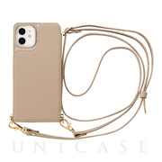 【iPhone12 mini ケース】Cross Body Case for iPhone12 mini (beige)