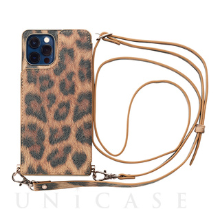 【iPhone12/12 Pro ケース】Cross Body Case Animal Series for iPhone12/12 Pro (leopard)