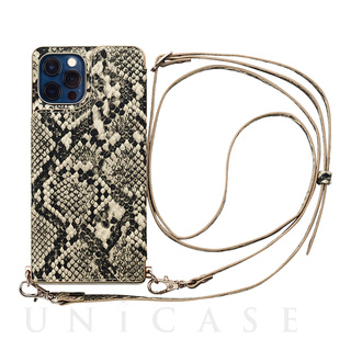 【iPhone12/12 Pro ケース】Cross Body Case Animal Series for iPhone12/12 Pro (python)
