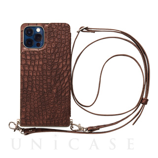【iPhone12/12 Pro ケース】Cross Body Case Animal Series for iPhone12/12 Pro (crocodile)