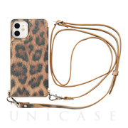 【iPhone12 mini ケース】Cross Body Case Animal Series for iPhone12 mini (leopard)